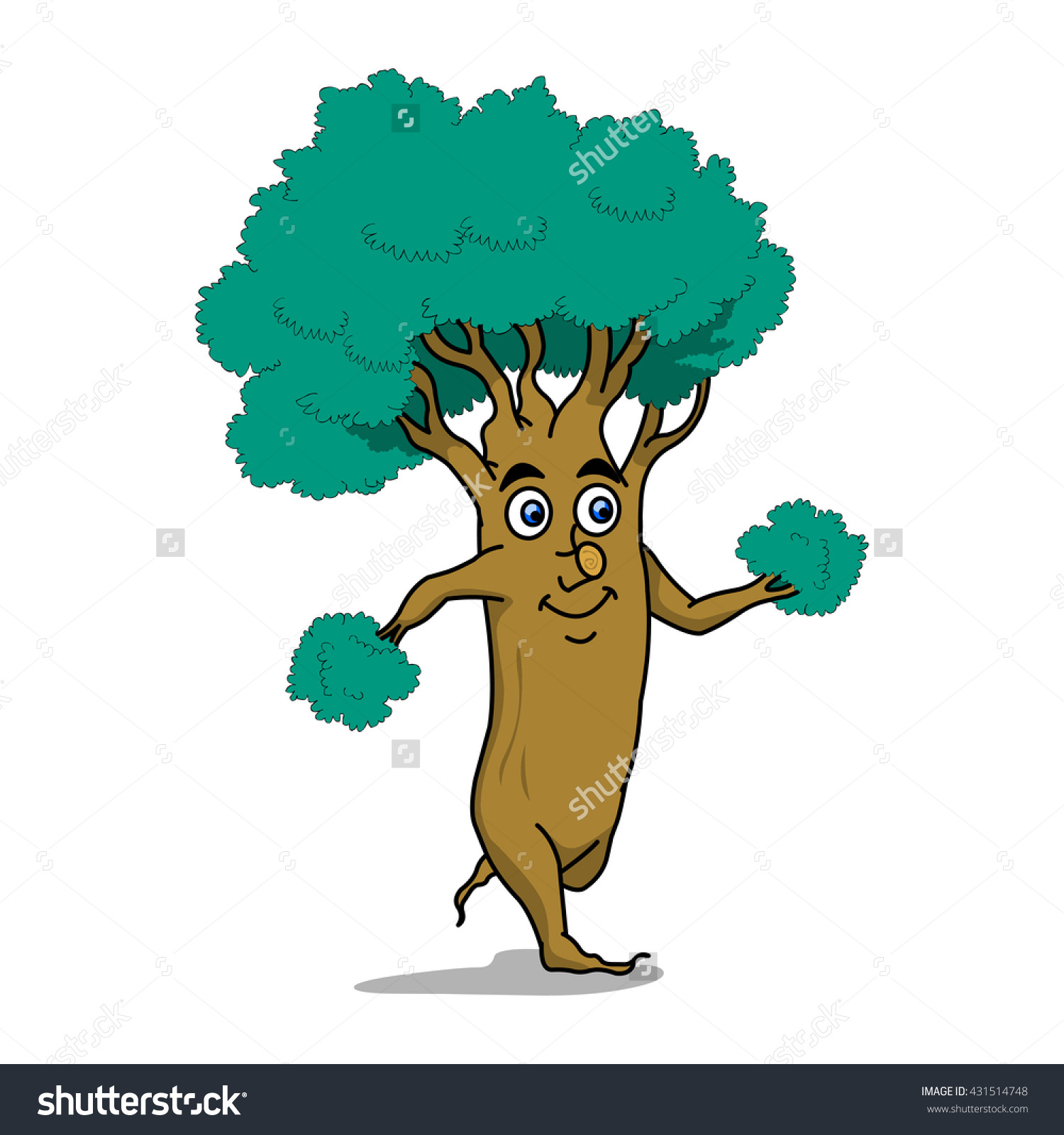 Tree Run Stock Vector Illustration 431514748 : Shutterstock.