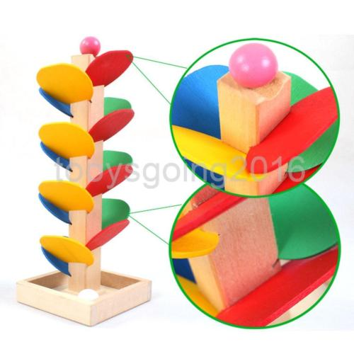 Colorful Wooden Tree Run Track Game Kids Intelligence Educational.