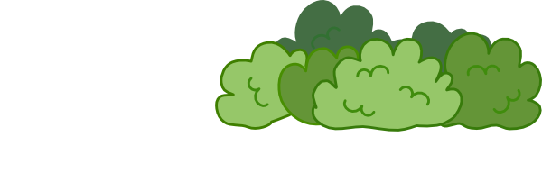Bushes and tree clipart.