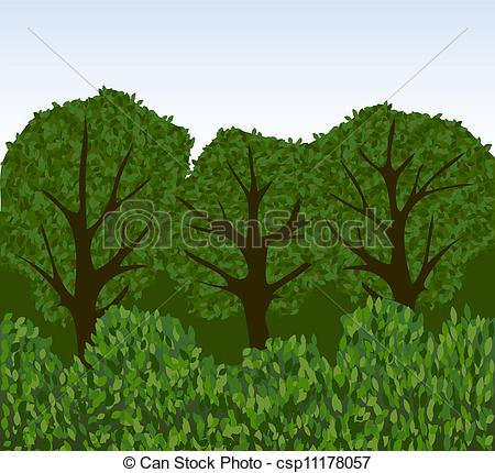 Images Of Clipart Bushes On Tree.