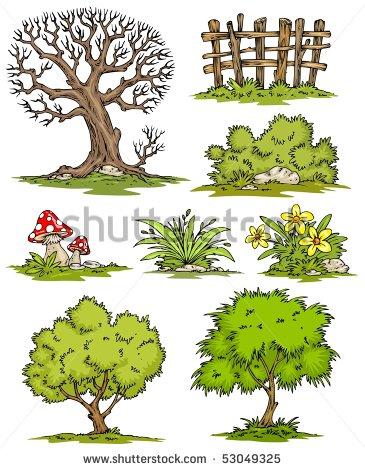 Landscape Bush Clipart.