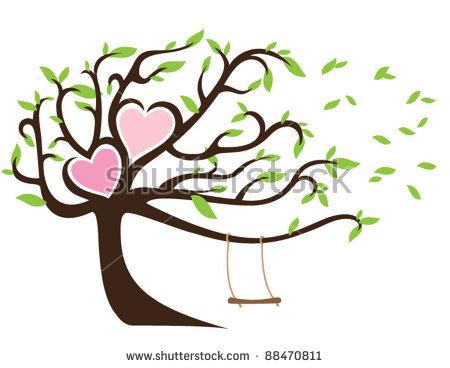 Branch Heart Stock Photos, Royalty.