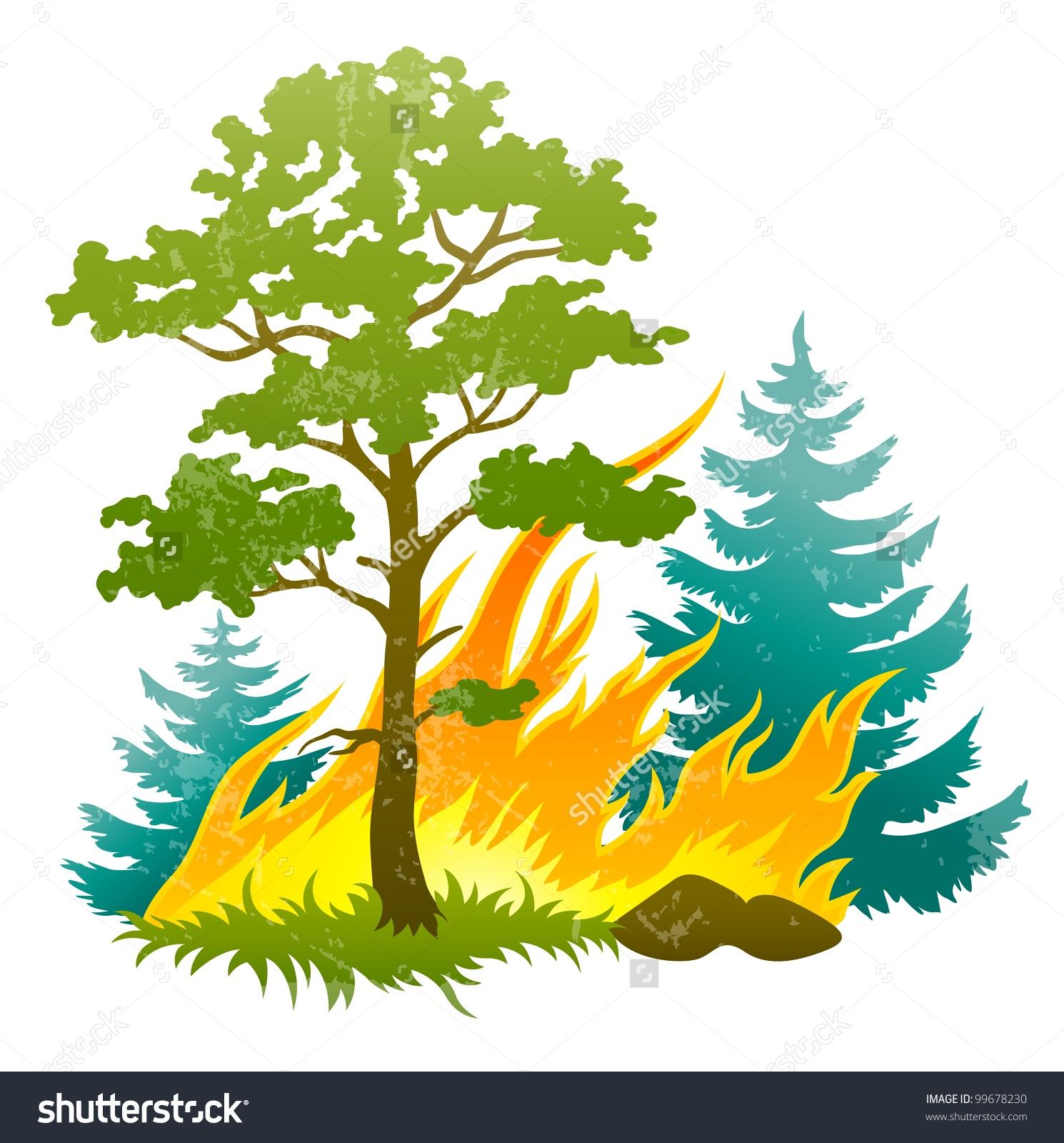 Showing post & media for Cartoon burning tree.