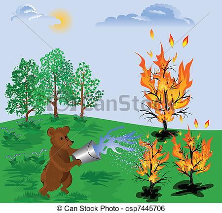 Forest fire Illustrations and Clip Art. 3,101 Forest fire royalty.