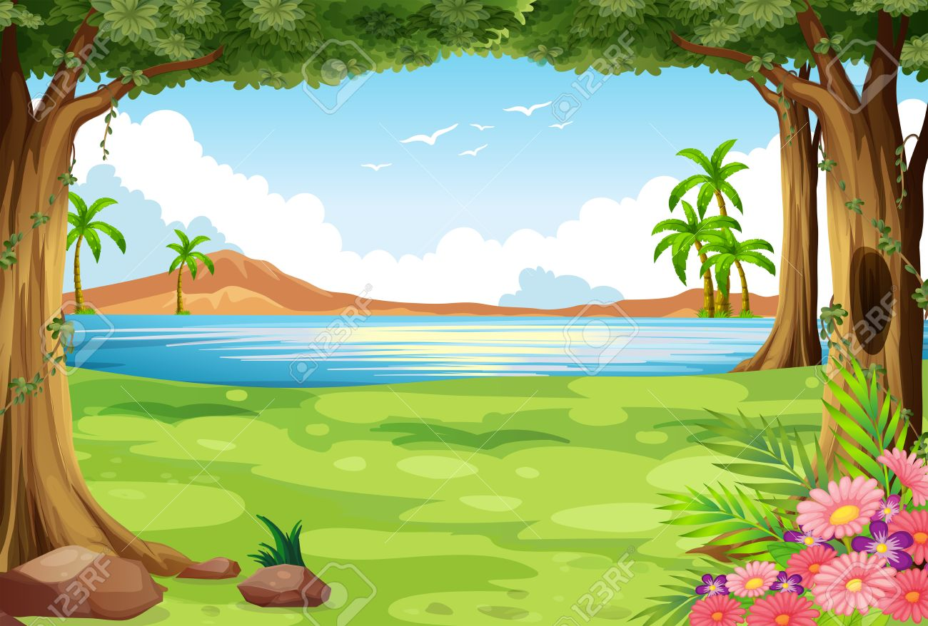 Grass And Trees Clipart.