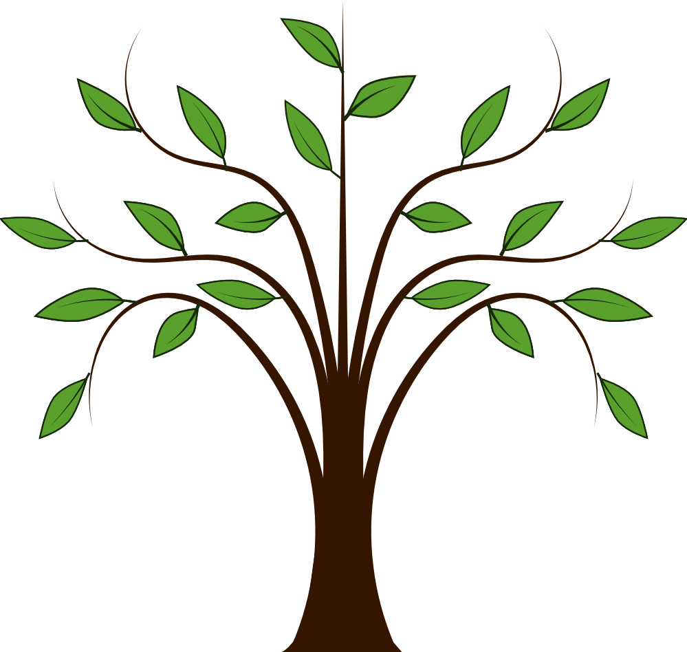 Clip art picture of trees.