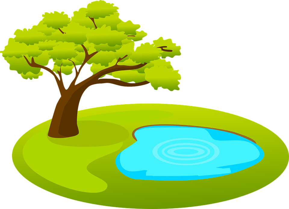 Free vector graphic: Pond, Tree, Water, Nature.