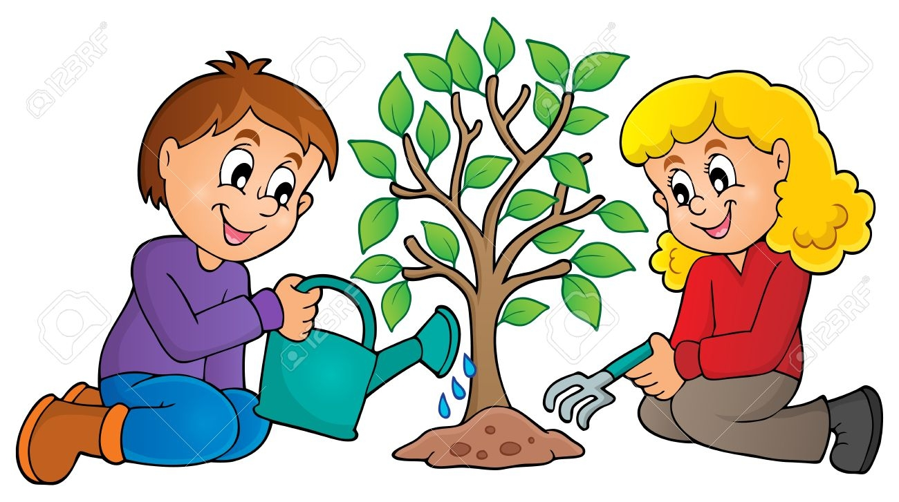 Tree Being Planted Clipart.