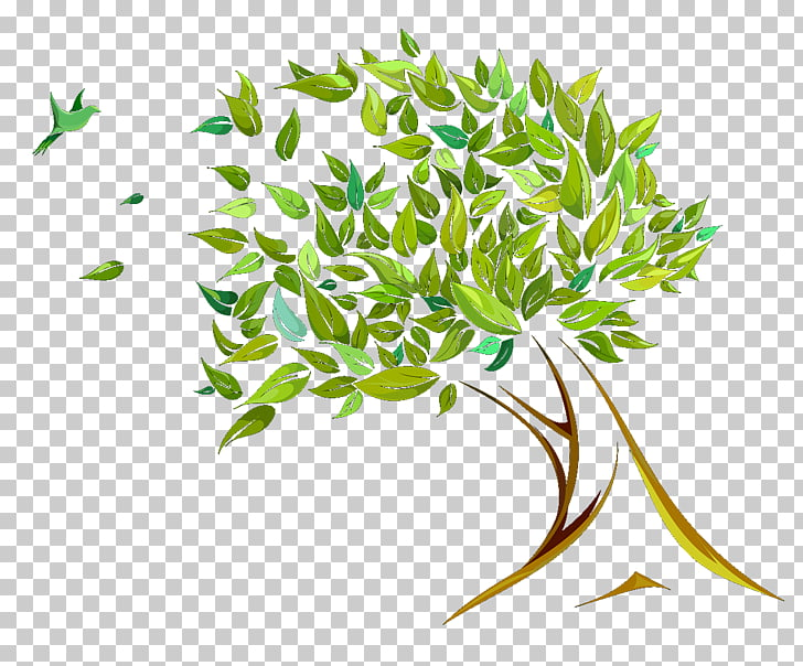 Branch Tree Leaf , The wind bent trees PNG clipart.