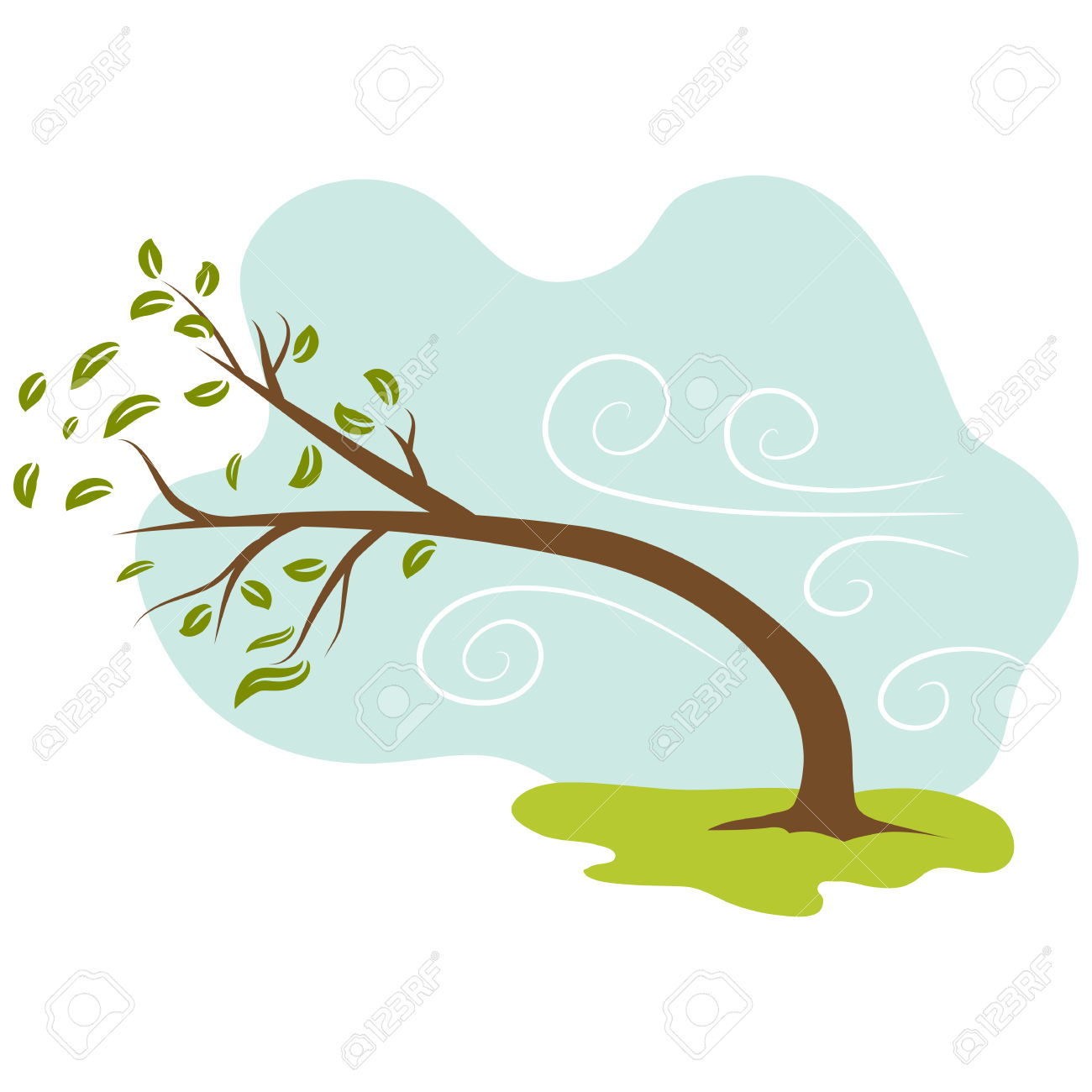816 Windy free clipart.