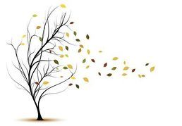 In the Wind Blowing Leaves Clip Art.