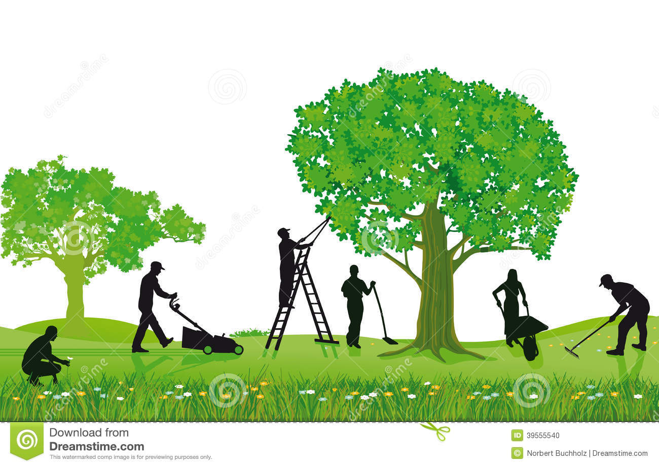 Tree lawn care clipart.