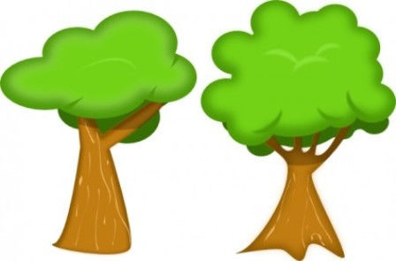 Tree with lawn clipart.