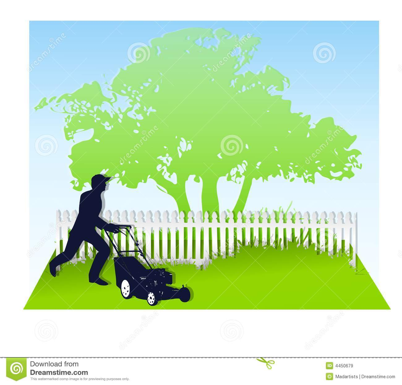 Lawn And Tree Clipart.