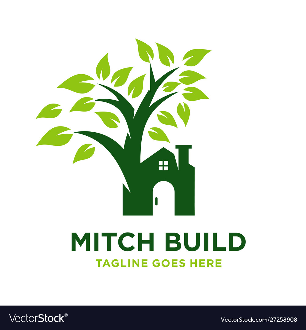 Home logo with trees.