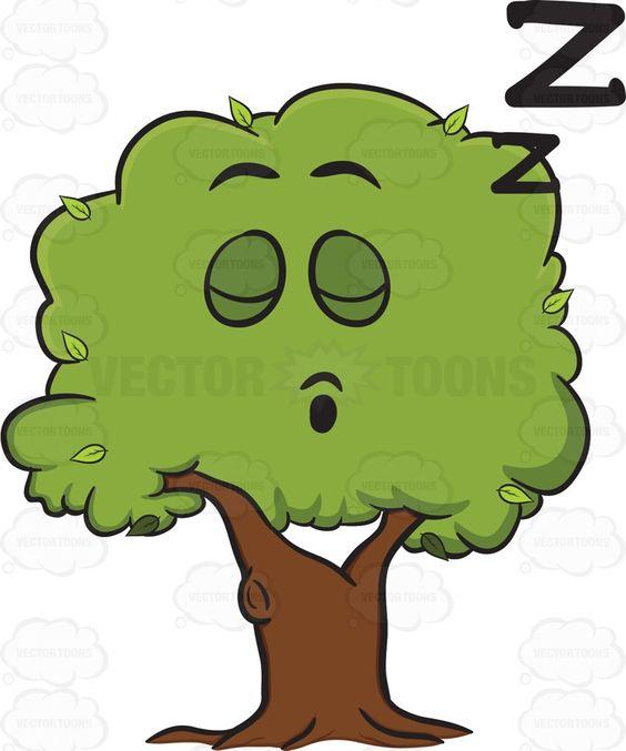 Healthy Leafy Tree Sleeping Soundly Emoji.