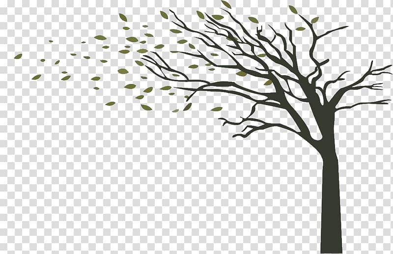 Green tree , Tree Wind Branch Drawing, The little trees.