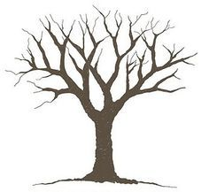 Simple tree without leaves clipart.