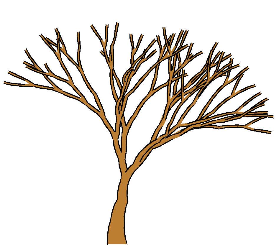 Brown Tree Without Leaves Clipart.
