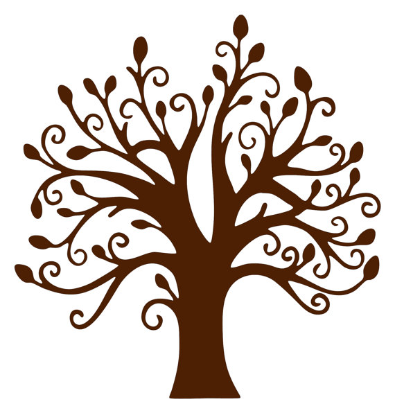 leaves growing from a tree clipart #18
