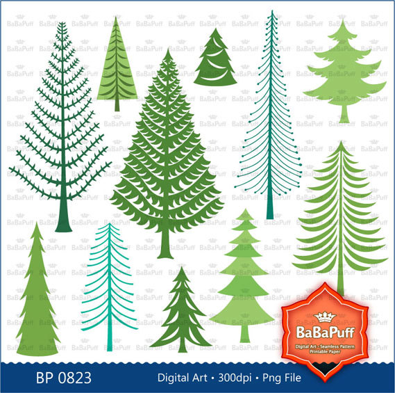 Instant Downloads Christmas Tree Pine Woodlands Woods Forest.