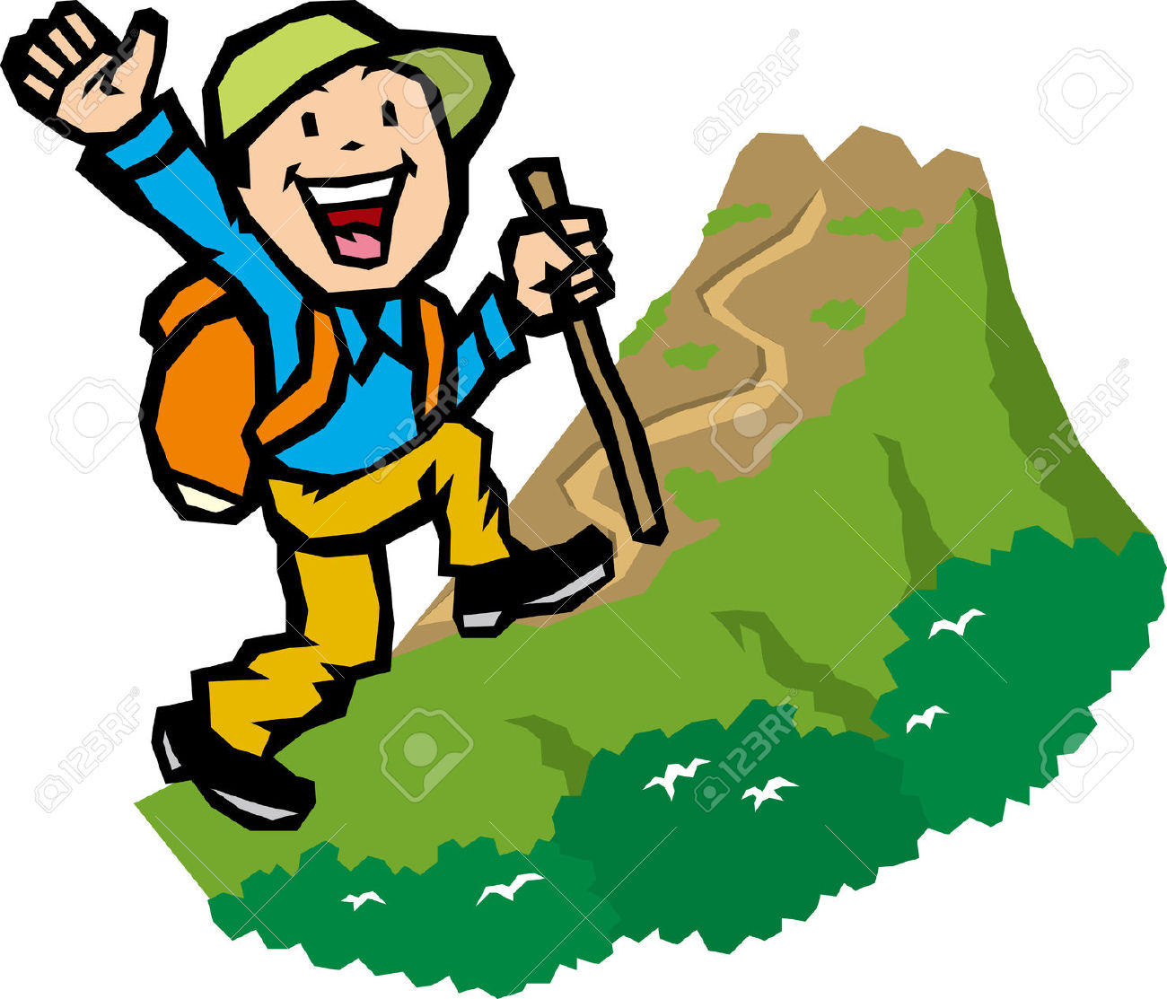 trekking clipart clipground hiker clip art outline hiker clip art for kids black and white
