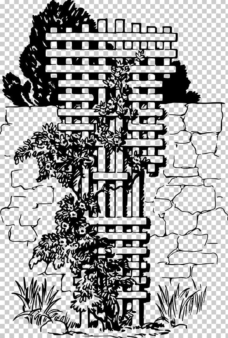 Trellis Garden Vine PNG, Clipart, Art, Black And White.