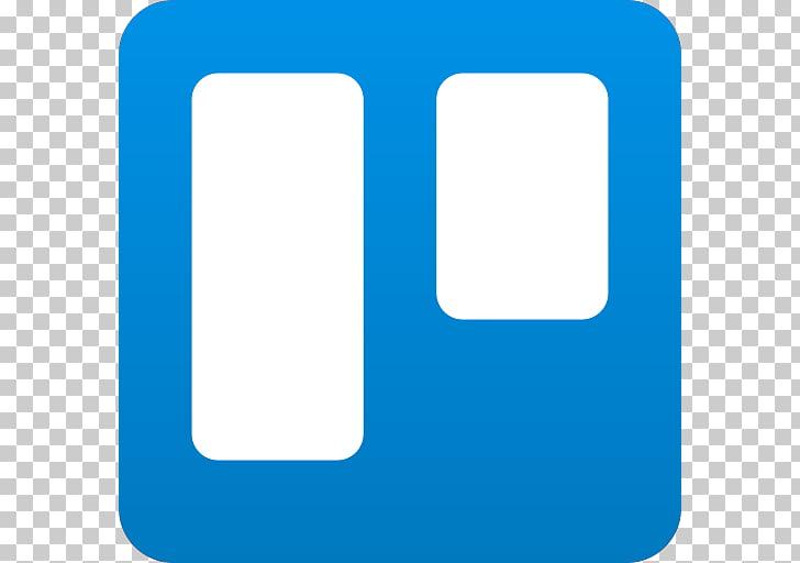 Trello Logo, blue collage photo frame PNG clipart.