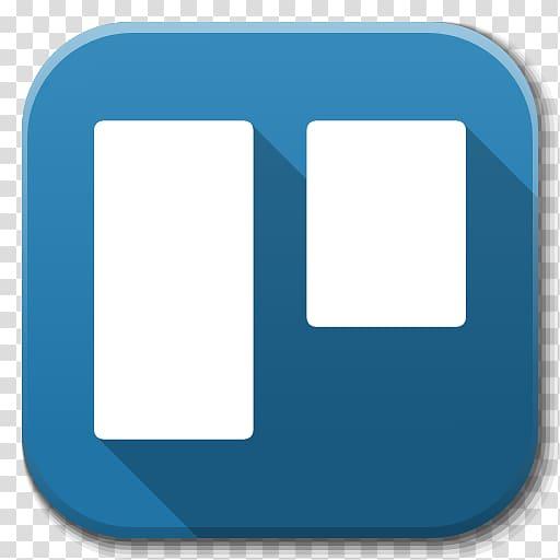 Blue and white , blue square symbol aqua, Apps Trello.