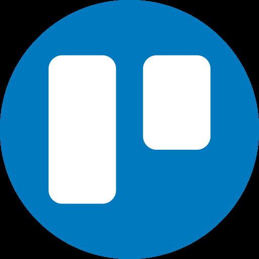 Circle, round icon, trello icon.
