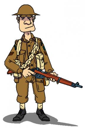 Trench Warfare Clipart.