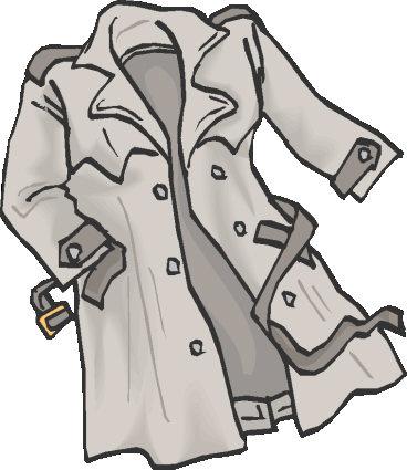 Raincoat Black And White Clipart.