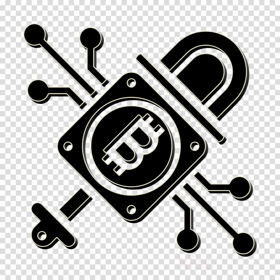 Blockchain icon Trend icon Cryptography icon clipart.