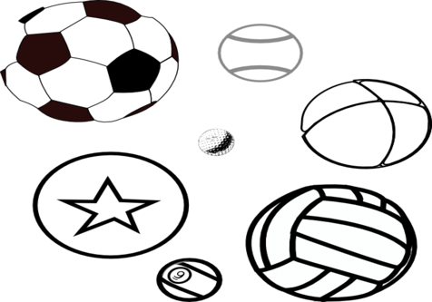 Balls Coloring Book, ball coloring page clip art. Coloring trend.