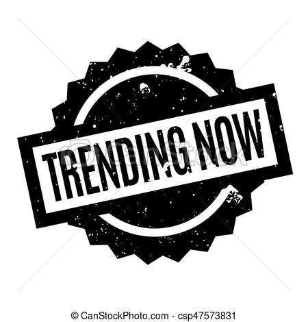 Trending Now rubber stamp.