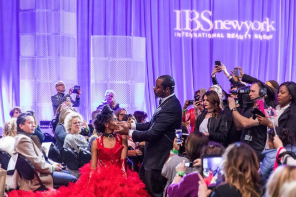 Behind the Scenes at the International Beauty Show in New.