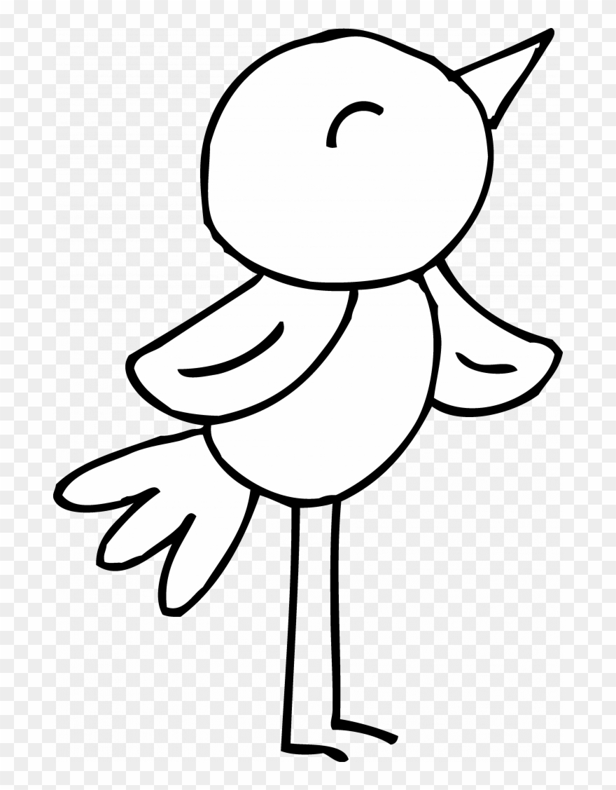 Permalink To 150 Trend Bird Clip Art Black And White.