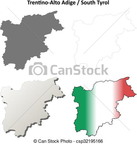 Clip Art Vector of Trentino.