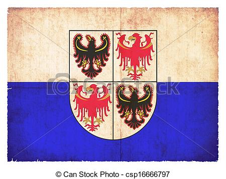 Stock Illustration of Grunge flag of Trentino.