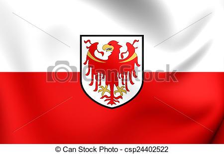 Clipart di bandiera, italia, trentino.