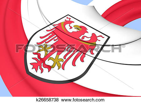 Stock Illustration of Flag of Trentino.