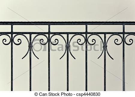 Stock Fotografie von altes, Treppengeländer, Eisen.