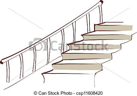 Vektor Illustration von treppe.