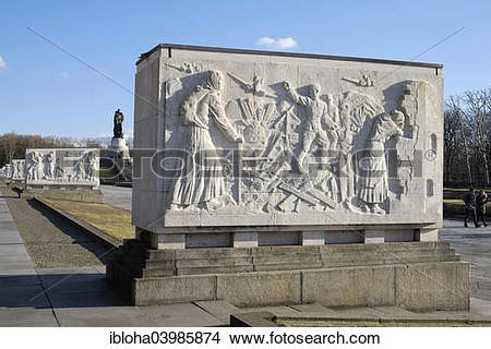 """Stock Photo of """"Marble sarcophagus at the Soviet War Memorial in."""