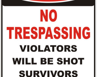Clipart no trespassing.