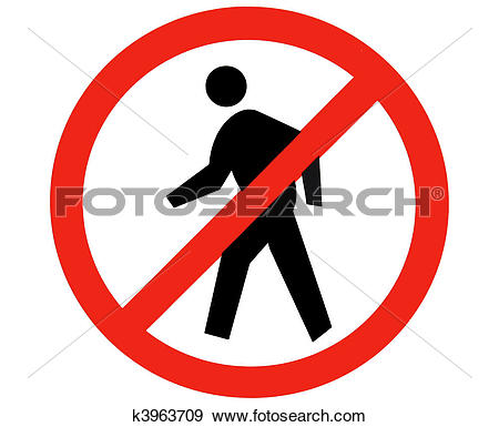 Stock Illustration of no trespass sign k3963709.