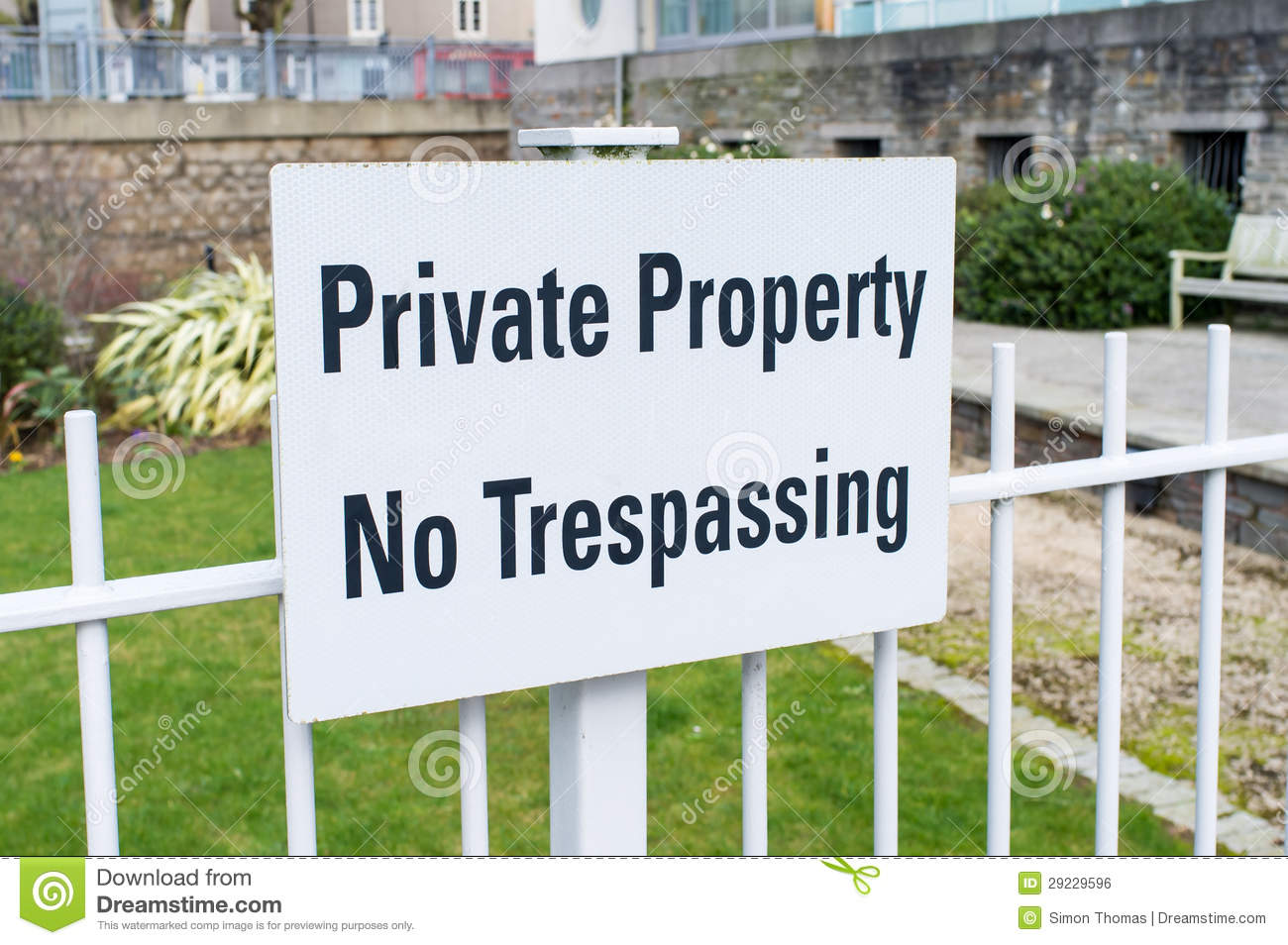 Private Property No Trespassing Royalty Free Stock Image.