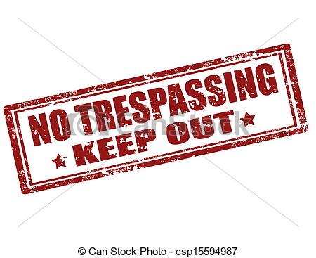 Vector of No Trespassing.