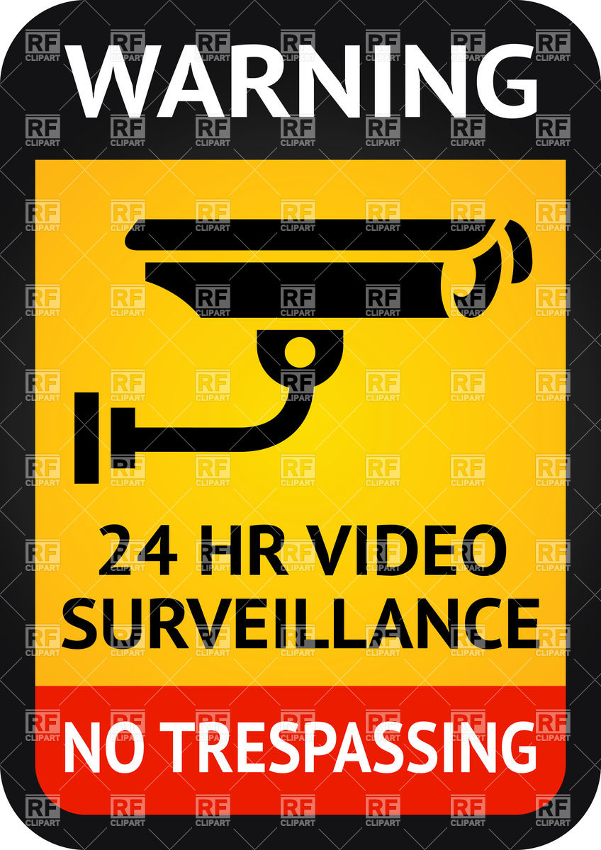 Video surveillance sign.