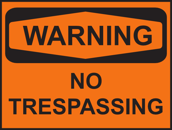 Warning No Trespassing Clip Art at Clker.com.